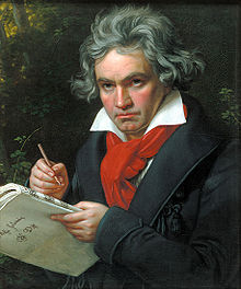 A portrait of Beethoven