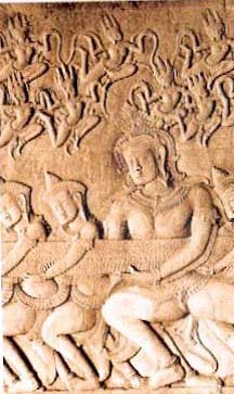 Churning of the Sea of Milk from Angkor Wat