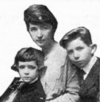 Margaret Sanger with her two sons, from the cover of her book, Woman and the New Race
